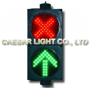 200mm Red X and Green Arrow Signal