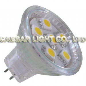 6pcs 5050 SMD LED MR11