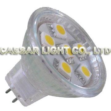 6pcs 5050 SMD LED MR11