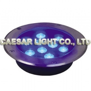 Round 9X1W LED Underground Lamp