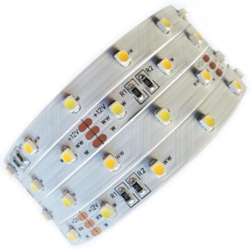 CCT Adjustable 12V 30+30/m 3528 LED Strip