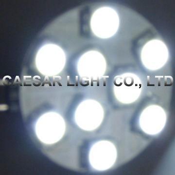 Side Pin Round 9pcs 5050 SMD LED G4