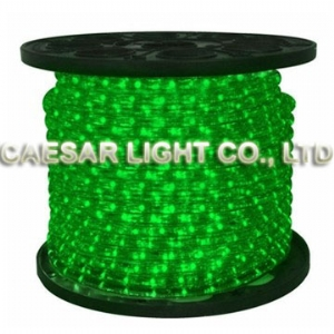 Round 2 Wire Green LED Rope Light
