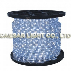 Round 2 Wire Pure White LED Rope Light