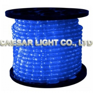 Round 2 Wire Blue LED Rope Light