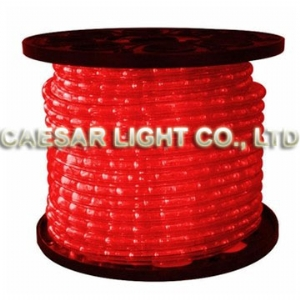 Round 2 Wire Red LED Rope Light