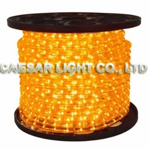 Round 2 Wire Yellow LED Rope Light