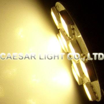 Back Pin Round 9pcs 5050 SMD LED G4