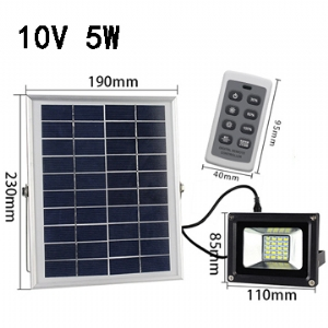 Solar LED Flood Light 10V 5W
