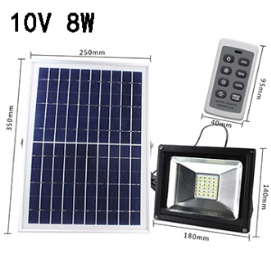 Solar LED Flood Light 10V 8W