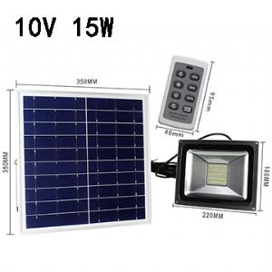 Solar LED Flood Light 10V 15W