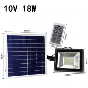 Solar LED Flood Light 10V 18W