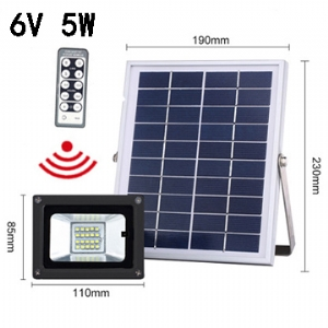 Solar LED Flood Light 6V 5W