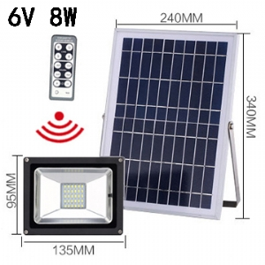Solar LED Flood Light 6V 8W