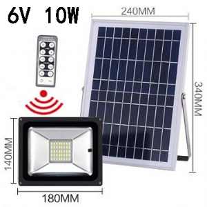 Solar LED Flood Light 6V 10W