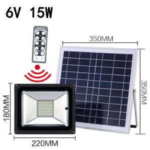 Solar LED Flood Light 6V 15W