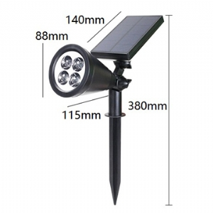 Solar LED Lawn Light Round 5.5V 1.6W