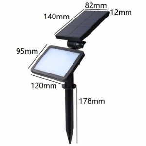 Solar LED Lawn Light Rectangular 5.5V 1.6W