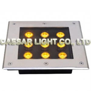 Square 9X1W LED Underground Lamp